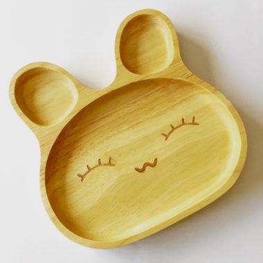 houten schaal konijn