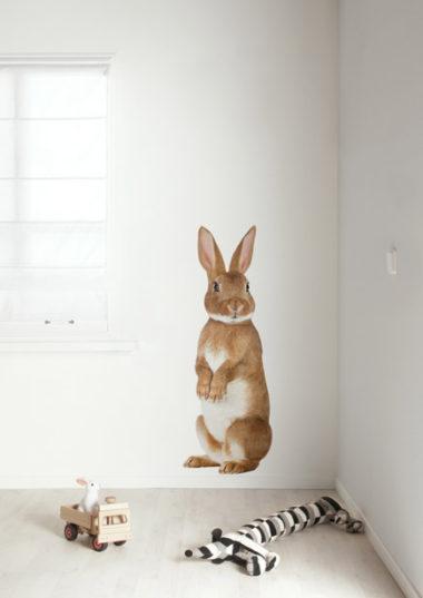 muursticker konijn forest friends