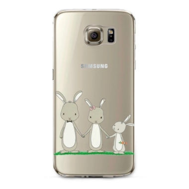 smartphone cover rabbits family