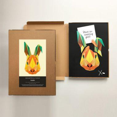 giftbox konijn magneetbord krijtbord