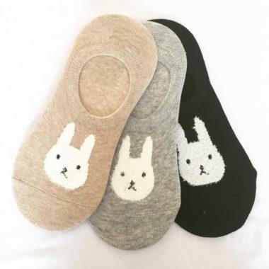 3-pak korte kousen konijn