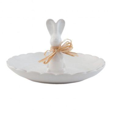 schaal konijn met strik