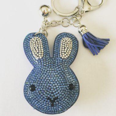 sleutelhanger konijn blauw