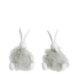 konijnen zittend assortiment wit munt