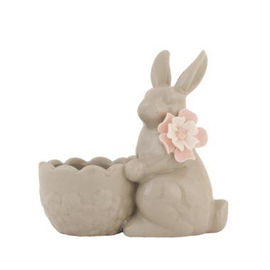 grijs eierdopje konijn