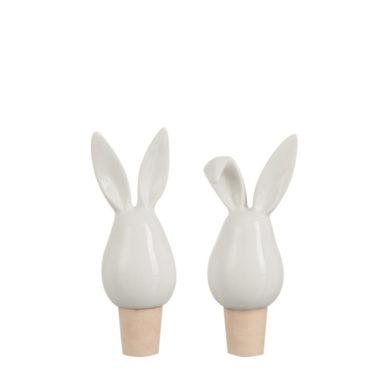 flessenstop konijnenoortjes