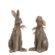 set konijnen beeldjes zittend groot