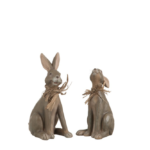 set konijnen beeldjes zittend klein