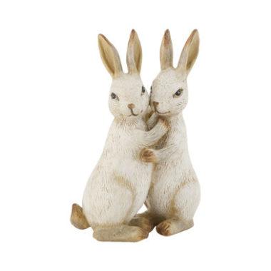 decoratie 2 konijnen