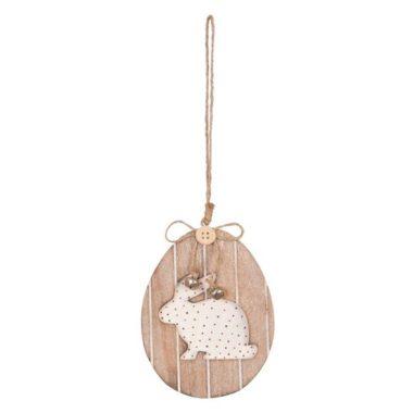 hanger konijn houten ei