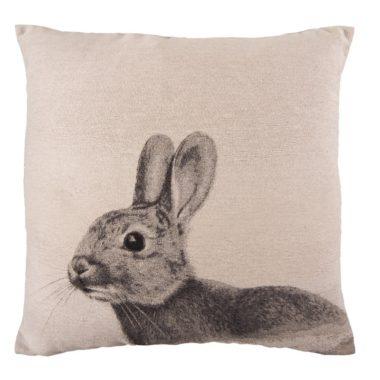 natuurtint kussen konijn
