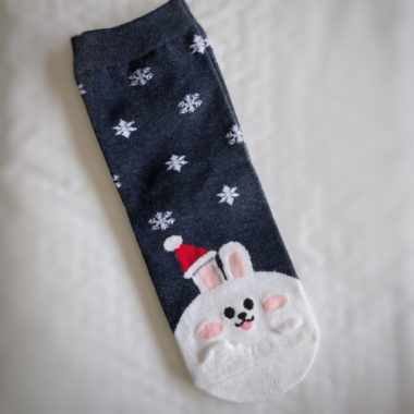 kousen konijn kerstmuts