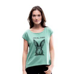 t-shirt Im all ears muntgroen