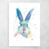metalen poster konijn